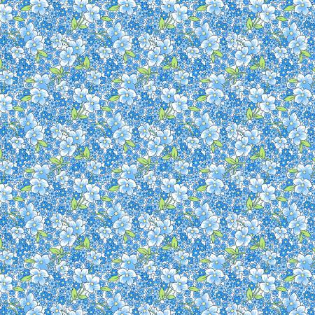 Blue Packed Floral #98636