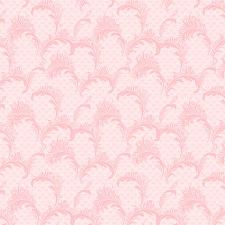 Pink Plumes from the Rhapsody In Reds Collection by Kaye England for Wilmington Prints
