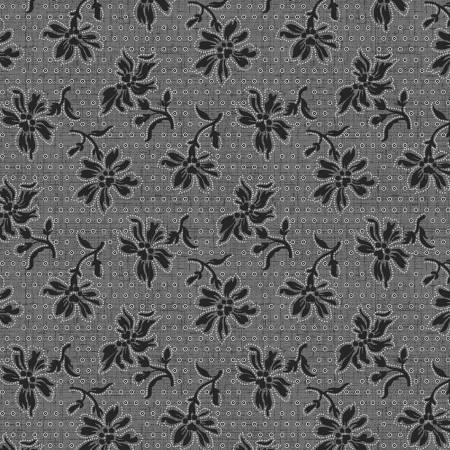 Blackwood Cottage Dark Grey Dotted Floral