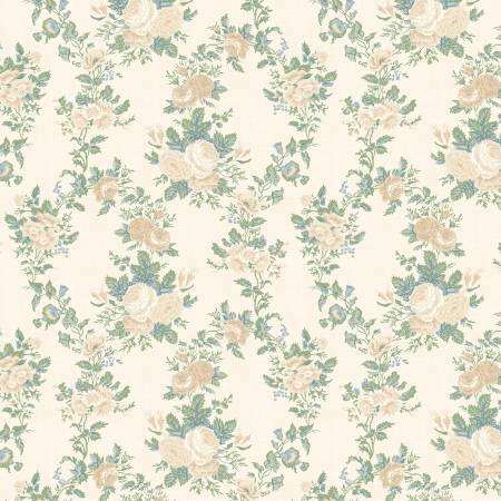 Wilmington Sapphire Blossoms 98665-117 Cream Twined Roses