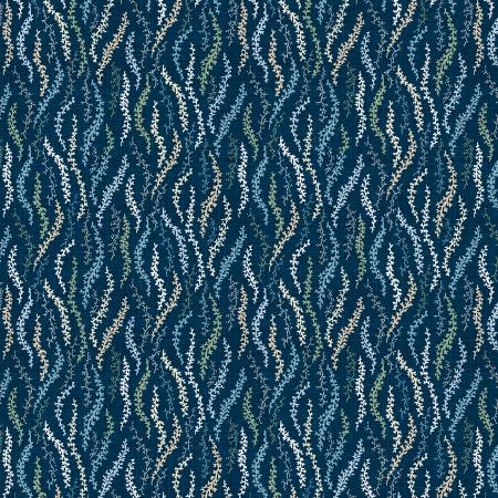 Wilmington Sapphire Blossoms 98669-447 Navy Scattered Vines