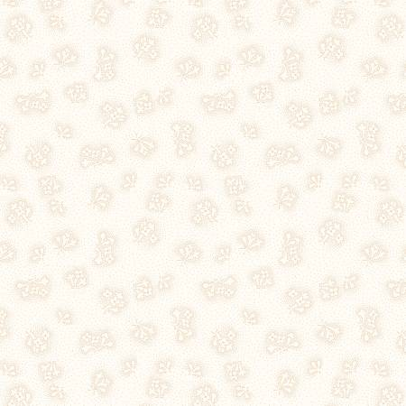 Wilmington Sapphire Blossoms 98670-112 Cream Dotted Floral