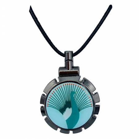 Threader Pendant Peacock
