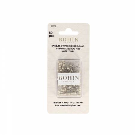Glass Head Pins 1-3/16in Ivory - 98859