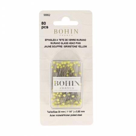 Glass Head Pins 1-3/16in Brimstone Yellow - 98862