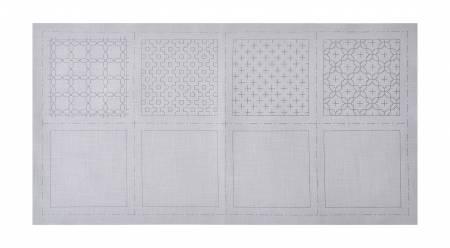 Cosmo Sashiko 100% Cotton Pre-printed Precut Cloth Set For Coasters - Gray