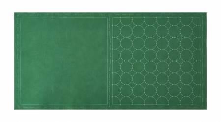 Cosmo Sashiko Cotton & Linen Precut Fabric - Circle - Green