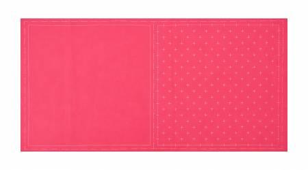 Cosmo Sashiko Cotton & Linen Precut Fabric - Kasuri - Rose