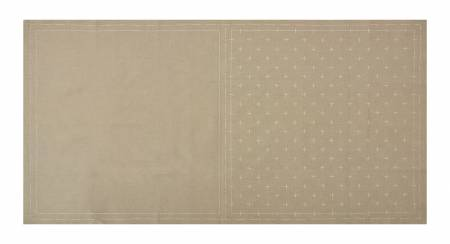 Cosmo Sashiko Cotton & Linen Precut Fabric - Kasuri - Gray