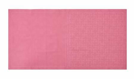 Cosmo Sashiko Cotton & Linen Precut Fabric - Cross - Plum