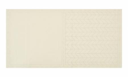 Cosmo Sashiko Cotton & Linen Precut Fabric - Herringbone - Off White