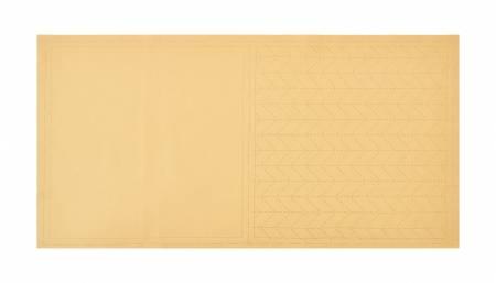 Cosmo Sashiko Cotton & Linen Precut Fabric - Herringbone - Beige