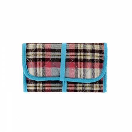 Sewing Storage Blue and Pink Tartan
