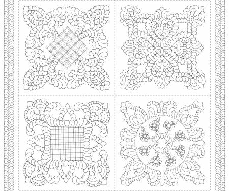 White Digital Pillow Panel 43in x 36in, squares approx - By Karen Phillips Shwallon - R32-9896-0140