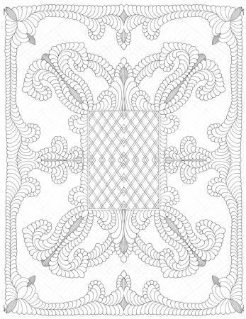 White Digital Baby Quilt 45in x 36in - R32-9898-0146n- By Karen Phillips Shwallon
