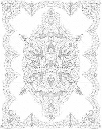 White Digital Baby Quilt 45in x 36in - by Karen Phillips Shwallon - R32-9899-0162