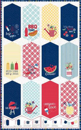 Multi Red, White & Blue Pennant Panel