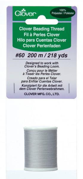 *Clover Beading Thread Light Gray 200m