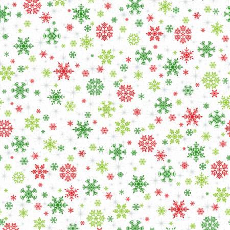 Keeping Cozy Snowflake Wishes - White