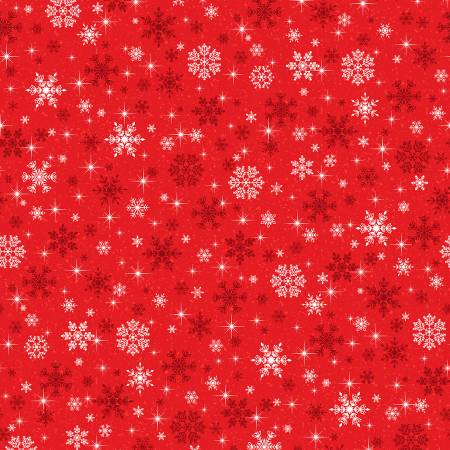 Keeping Cozy Snowflake Wishes - Red