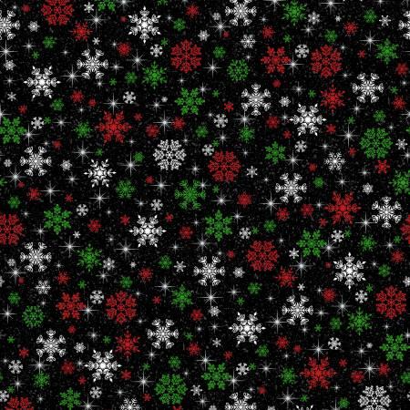 Keeping Cozy Snowflake Wishes - Black