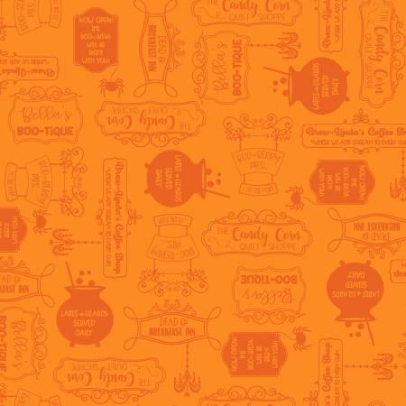 Hometown Halloween - Orange - Shop Signs - Maywood Studios - Kimberbell - 9924M-O