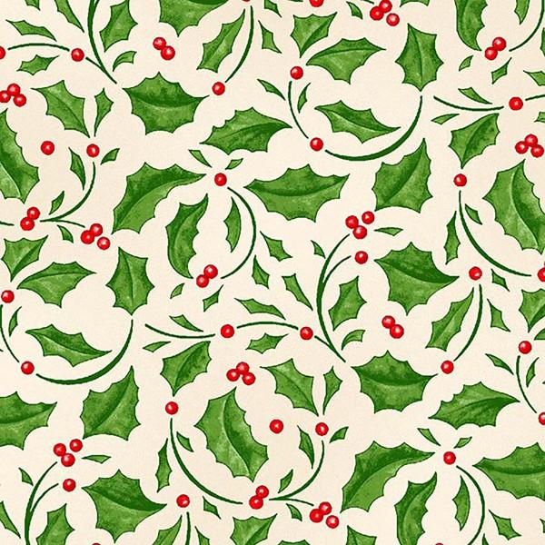 Cream Holly Leaves