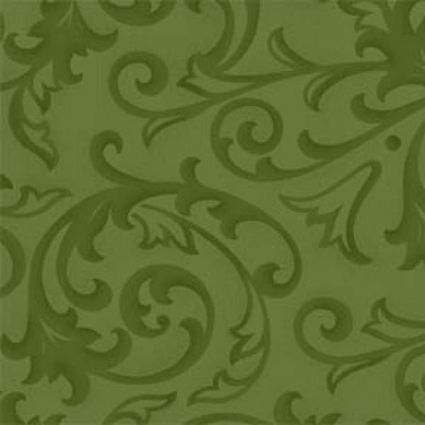 Green Baroque 108in Quilt Back