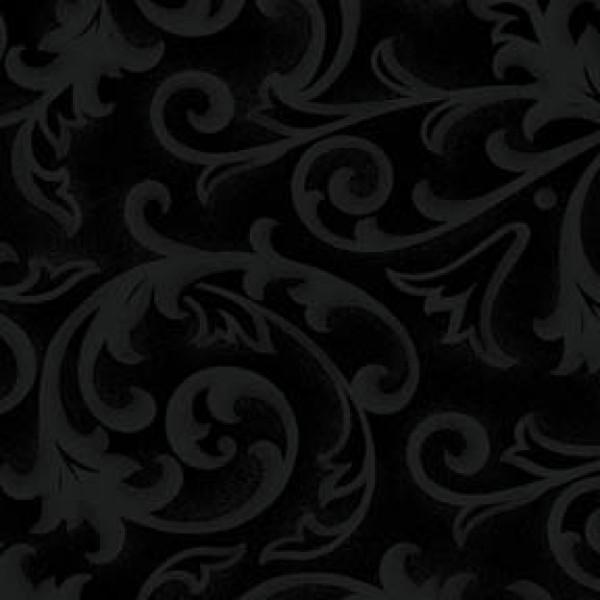 Henry Glass Black Baroque 108 inch Wide Back # 9939-99