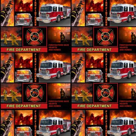 Firemen All Over Block Print 9945