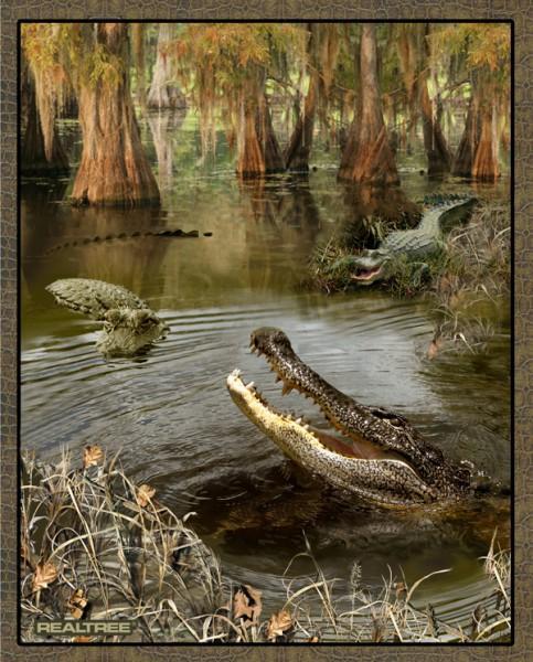 realtree swamp gator panel