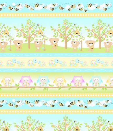Woodland Cuties 9976 Stripe Multi