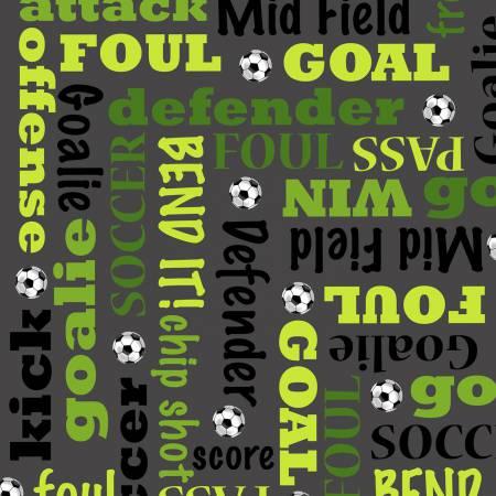 Grey Soccer Words