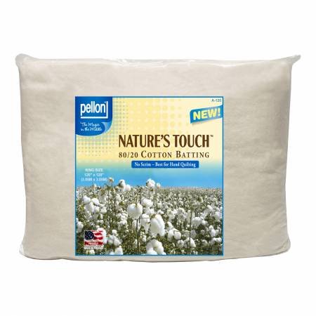 Pellon Natures Touch Natural Blend 80/20 Batting King-Sized 120in x 120in