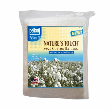 Pellon Natures Touch Natural Blend 80/20 Batting  Crib-Sized 45in x 60in