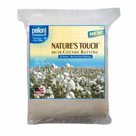 Pellon Natures Touch Natural Blend 80/20 Batting  Queen-Sized 90in x 108in