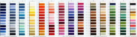 Aurifil Thread Color Card
