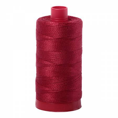 Mako Cotton Embroidery Thread 12wt 356yds Burgundy