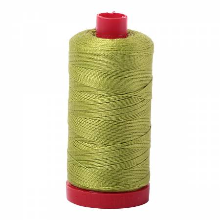 Mako Cotton Embroidery Thread 12wt 356yds Spring Green