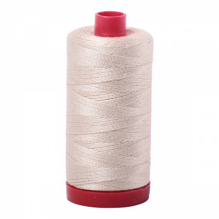 Mako Cotton Embroidery Thread 12wt #2000 Light Sand