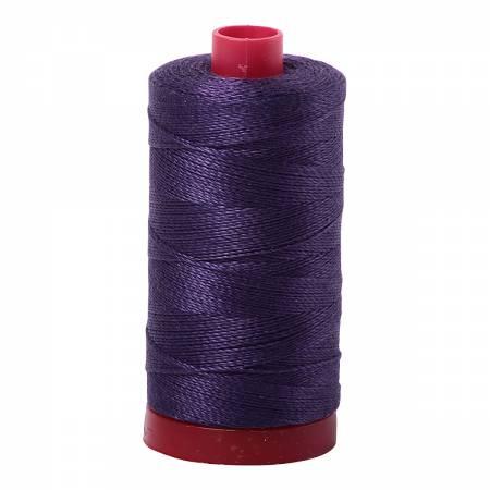 Mako Cotton Embroidery Thread 12wt 356yds Dark Dusty Grape