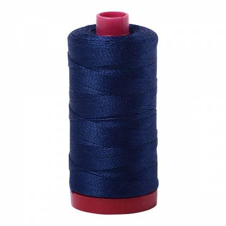 Aurifil 2784 Mako Cotton Embroidery Thread 12wt 356yds Dark Navy