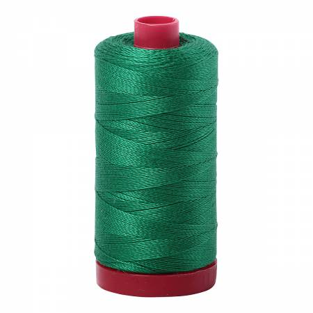 Mako Cotton Embroidery Thread 12wt 356yds Green