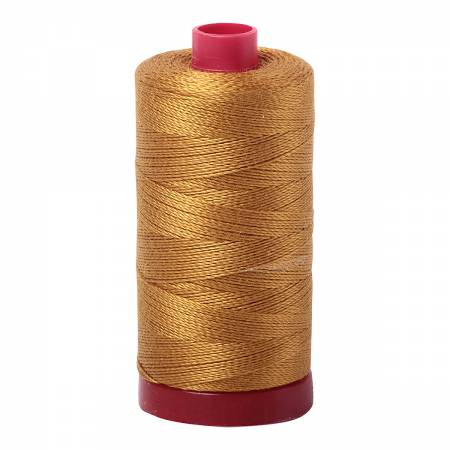 Mako Cotton Embroidery Thread 12wt 356yds Brass