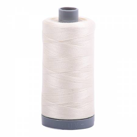 Mako Cotton Embroidery Thread Solid 28wt 820yds Chalk