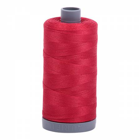Mako Cotton Embroidery Thread 28wt 820yds Red
