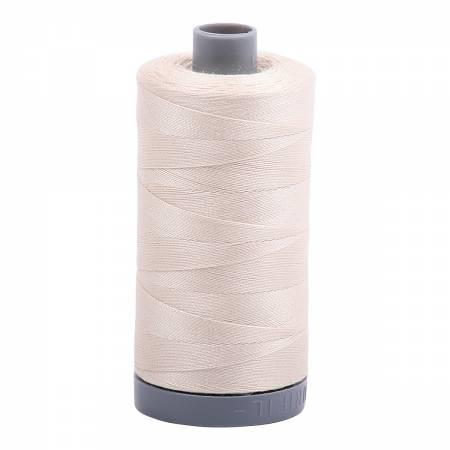 Mako Cotton Embroidery Thread 28wt 820yds Light Beige