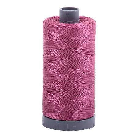 Mako Cotton Embroidery Thread 28wt 820yds Rose