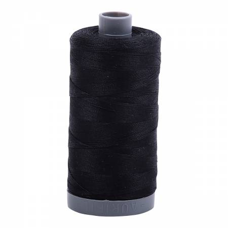 Mako Cotton Embroidery Thread 28wt 820yds Black