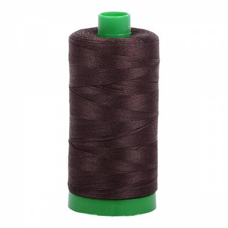 Aurifil Mako Cotton Thread 40wt 1094yds - Very Dark Bark 1130